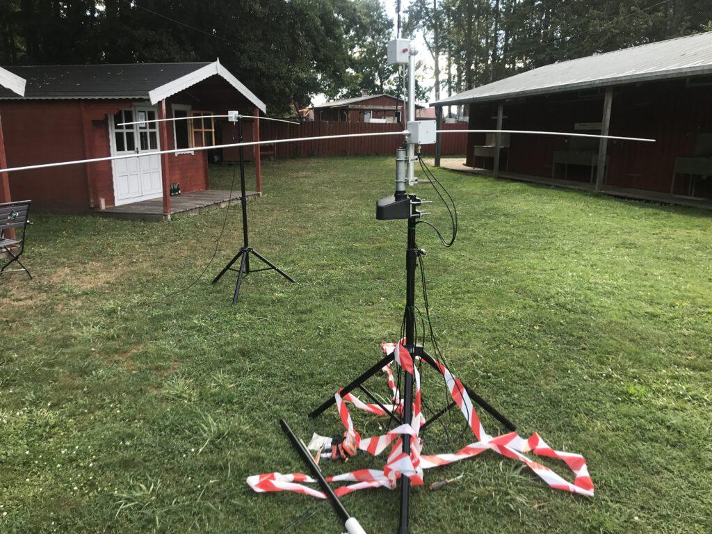 Der 6m Dipol mit Rotor