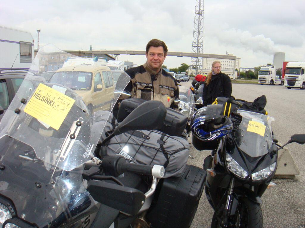 Mit dem Motorrad zum Nordkapp - Im Hafen von Travemünde