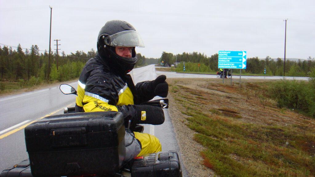 Mit dem Motorrad zum Nordkapp - Nordkapp in Sicht