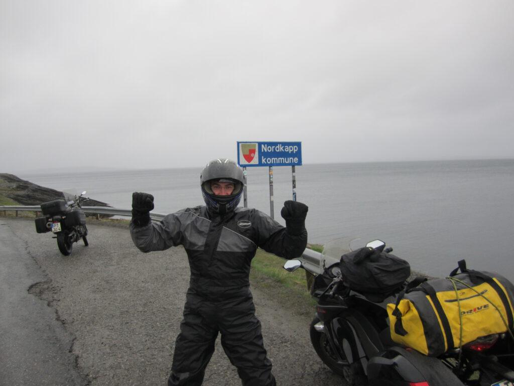 Mit dem Motorrad zum Nordkapp - Alf am Nordkapp