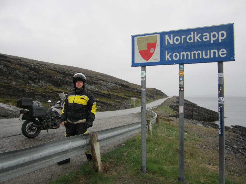 Mit dem Motorrad zum Nordkapp - Jens am Nordkapp