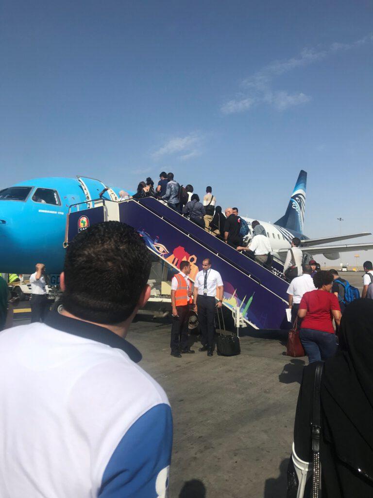 Bording in Cairo